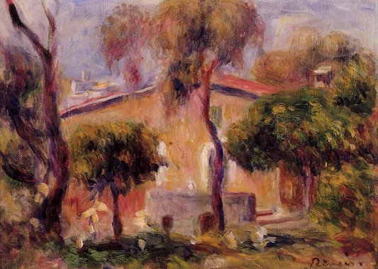 Pierre-Auguste Renoir - Houses in Cagnes