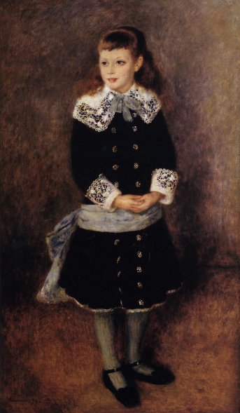 Pierre-Auguste Renoir - Marthe Berard aka Girl Wearing a Blue Sash