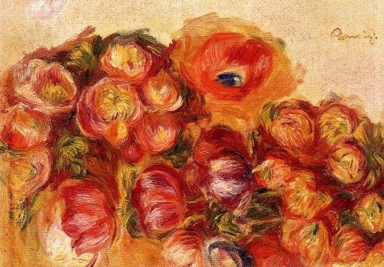 Pierre-Auguste Renoir - Study of Flowers - Anemones and Tulips
