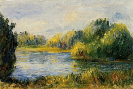 Pierre-Auguste Renoir - The Banks of the River02
