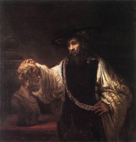 Rembrandt van Rijn - Aristotle with a Bust of Homer