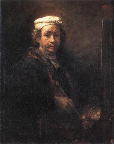 Rembrandt van Rijn - Portrait of the Artist at His Easel