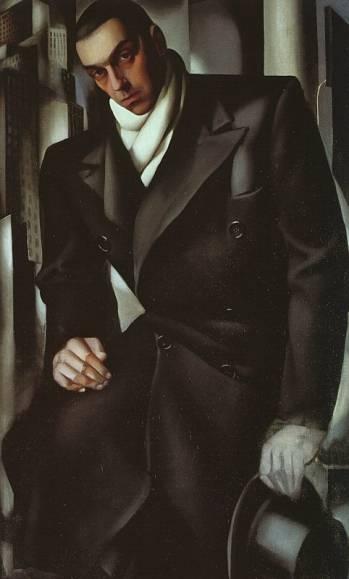 Tamara de Lempicka - Portrait of a Man or Mr Tadeusz de Lempicki, 1928