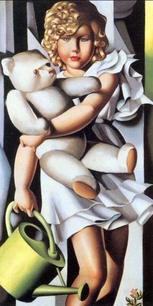 Tamara de Lempicka - Portrait of Miss Poum Rachou, 1933