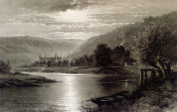 Thomas Sidney Cooper - Leader Benjamin Williams Tintern Abbey Moonlight On The Wye
