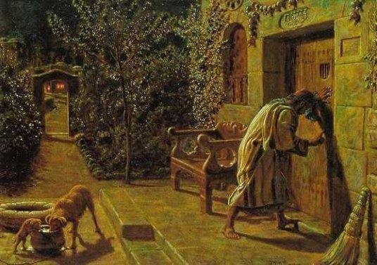 William Holman Hunt - The Importunate Neighbour