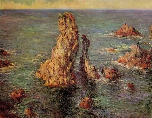 Claude Monet - Pyramids at Port-Coton