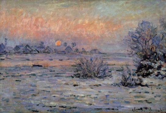 Claude Monet - Winter Sun, Lavacourt