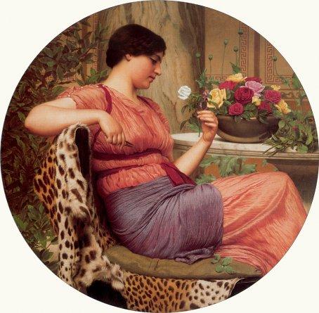 John William Godward - The Time of Roses