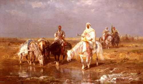 Arabs Watering Their Horses