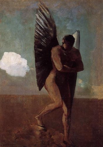 Fallen Angel Looking at at Cloud