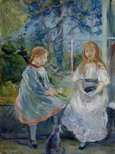Little Girls at the Window (Jeanne and Edma Bodeau)