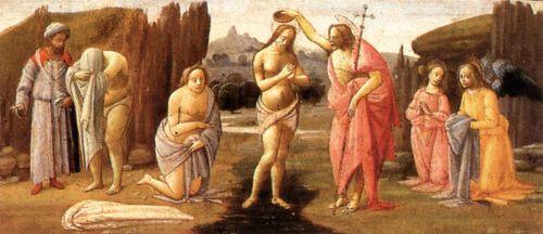 Predella - Baptism of Christ