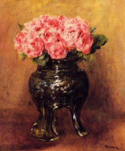 Roses in a China Vase