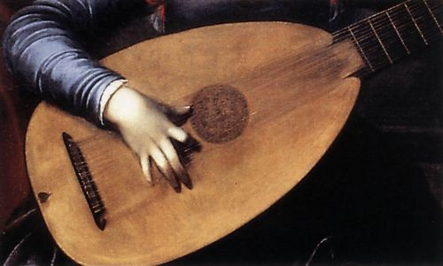Saint Cecilia and the Angel (detail)