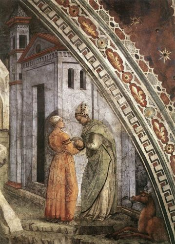 St Stephen is Born and Replaced by Another Child (detail) 2