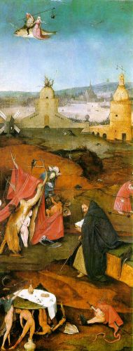 Temptation of St Anthony, right wing of the triptych