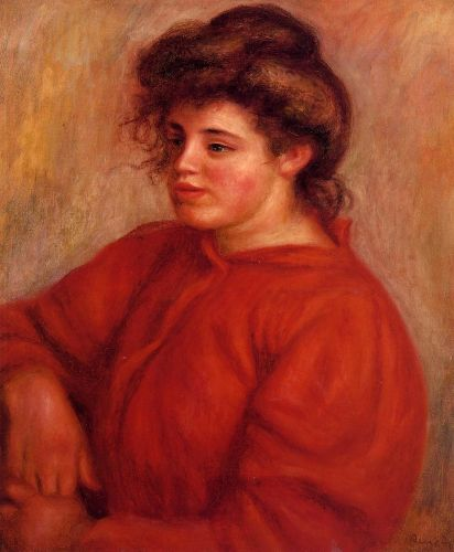 Woman in a Red Blouse
