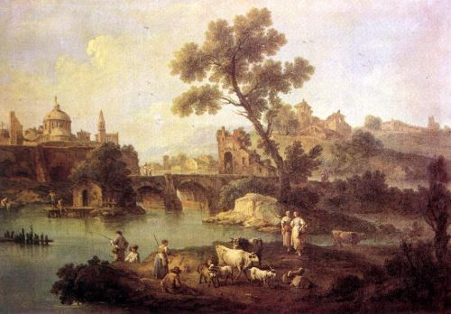 Landscape with River and Bridge