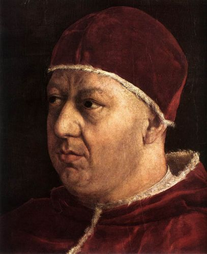 Pope Leo X with Cardinals (detail) 1