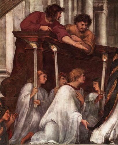 The Mass at Bolsena (detail) 1