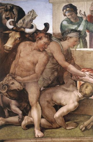 Genesis - 7 Sacrifice of Noah (Detail) 1