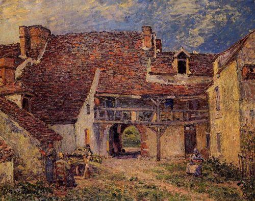 Courtyard of a Farm at Saint-Mammes