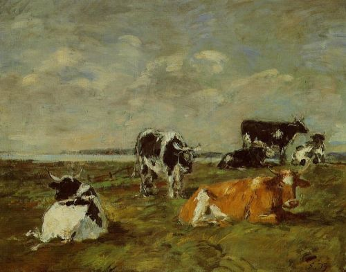 Cows near the Sea