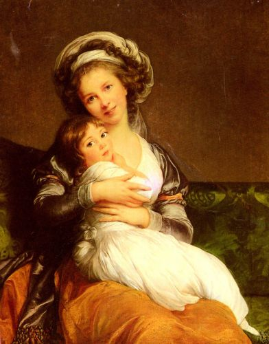 Mrs Vigee-Lebrun and her daughter, Jeanne-Lucie-Louise.