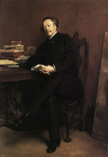 Portrait of Alexandre Dumas, Jr
