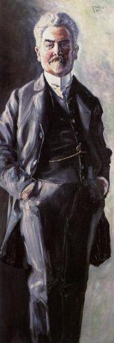 Portrait of Leopold Czihaczek, Standing