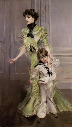 Portrait of Madame Georges Hugo and Her Son, Jean