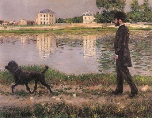 Richard Gallo and His Dog at Petit Gennevilliers