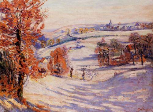 Snow at Crozant