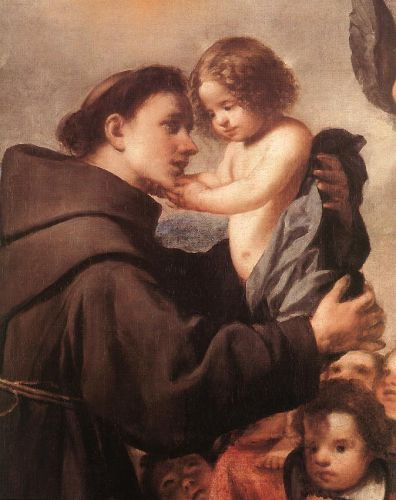St Anthony of Padua with Christ Child (detail)