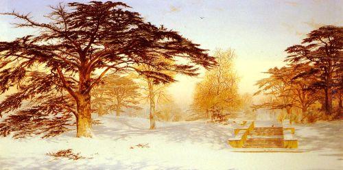 Untrodden Snow, The Terrace, Holland House