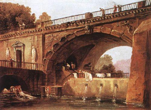 Washerwomen below a Bridge