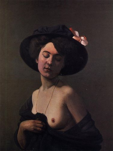 Woman with a Black Hat