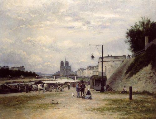 The Henri IV Quay, Paris