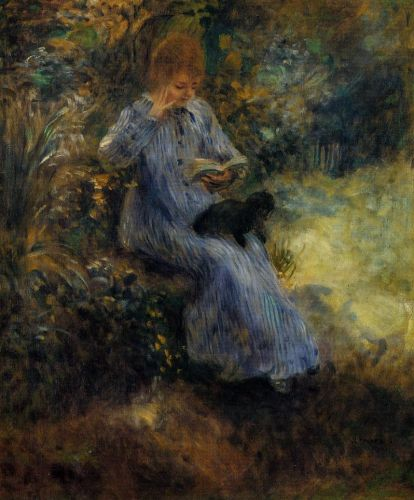 Woman with a Black Dog
