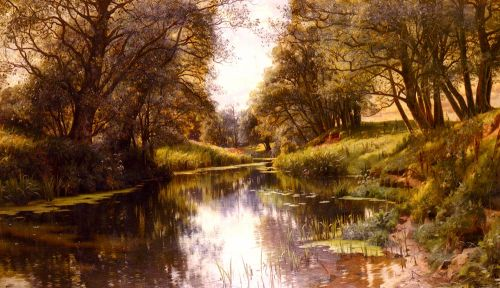 A Winding Stream In Summer