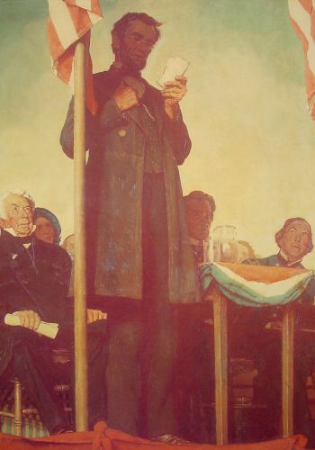 Abraham Delivering the Gettysburg Address