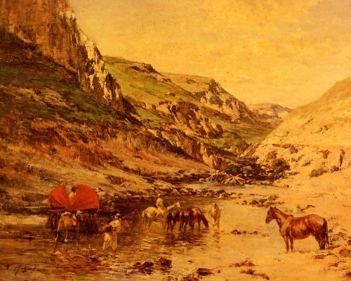 Arabs Resting in a Gorge