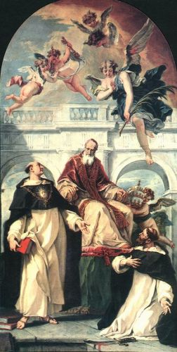 St Pius, St Thomas of Aquino and St Peter Martyr