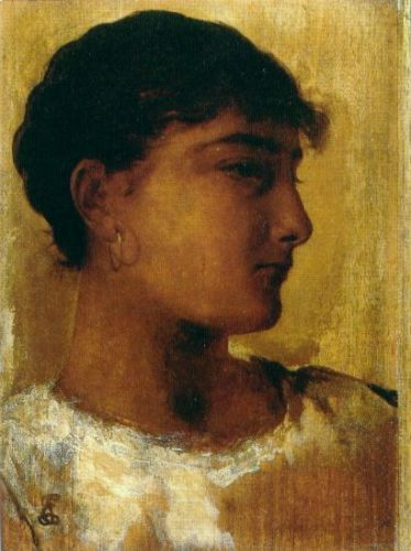 Study of a Young Girls Head, another view