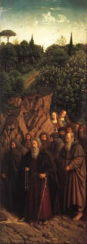 The Ghent Altarpiece - The Holy Hermits
