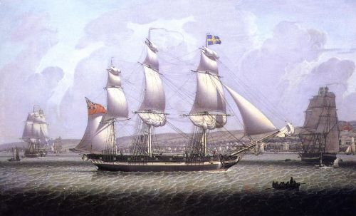 A Frigate of the Baltic Fleet off Greenock