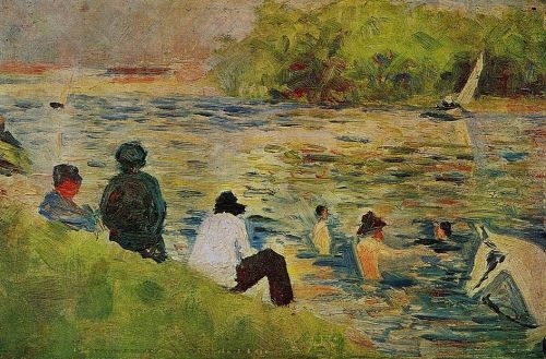 Bathing at Asnieres - The Bank of the Seine