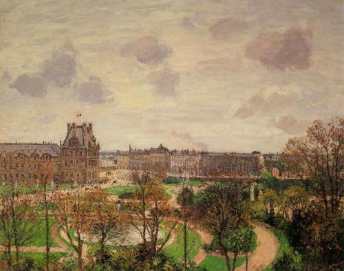 Garden of the Louvre - Morning, Grey Weather