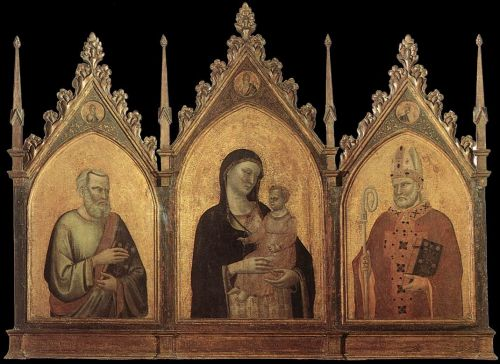 Madonna and Child with Sts Matthew and Nicholas